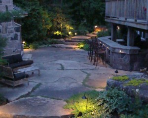 landscapelighting path and accent in greater Toronto